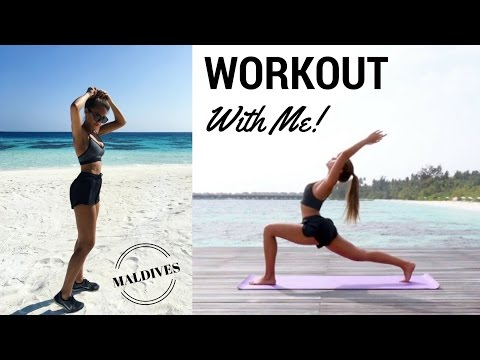 WORKOUT WITH ME ON VACATION | Annie Jaffrey