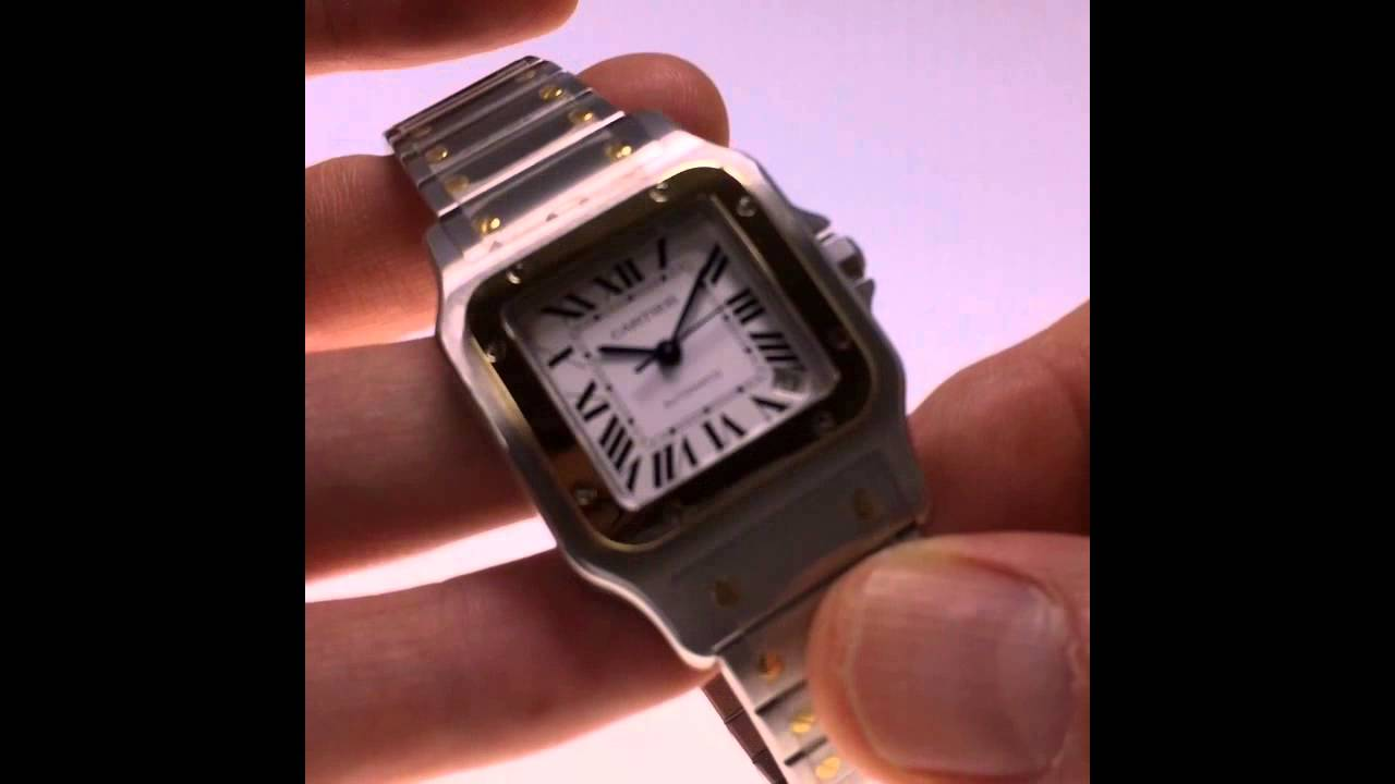 Cartier Santos de Cartier Galbee XL automatic - Orologio - YouTube 4e2c59baab6b3