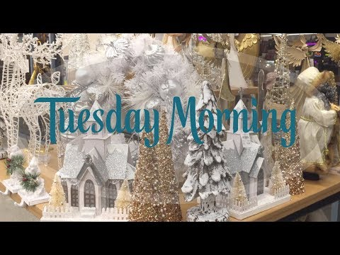 "🎄Shop With Me ""Tuesday Morning""  2017🎅🏼🎁 (HomeGoods sister store)"