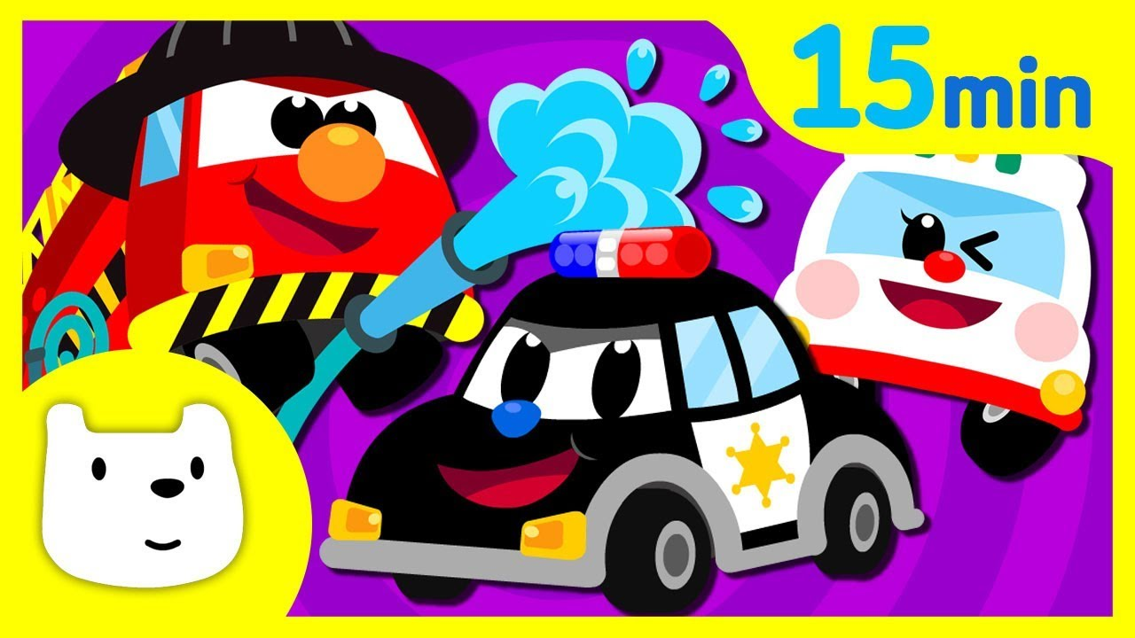 Car Songs Compilation♪ | Police car Fire Truck Ambulance + | Tidi Songs for Children★TidiKids
