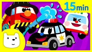 Car Songs Compilation ♪ | Police car Fire Truck Ambulance + | Tidi Songs for Children★Tidi Kids
