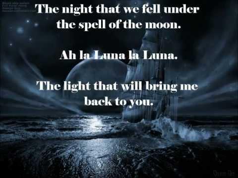 La Luna remix with a moon and lyrics