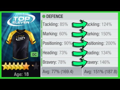 Power Training A Youth Squad Defender | Top Eleven 2018