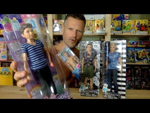 Barbie Ken Fashionistas Vs Buffed Up Babysitter Inc. Head Swap Unboxing Review