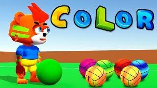 learn colors for kids football Cartoon Color - Changing football Colors | education colors for kids