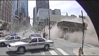 Raw: Bus Camera Captures Pa. Building Collapse