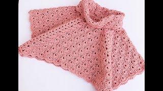 Poncho a crochet para niña
