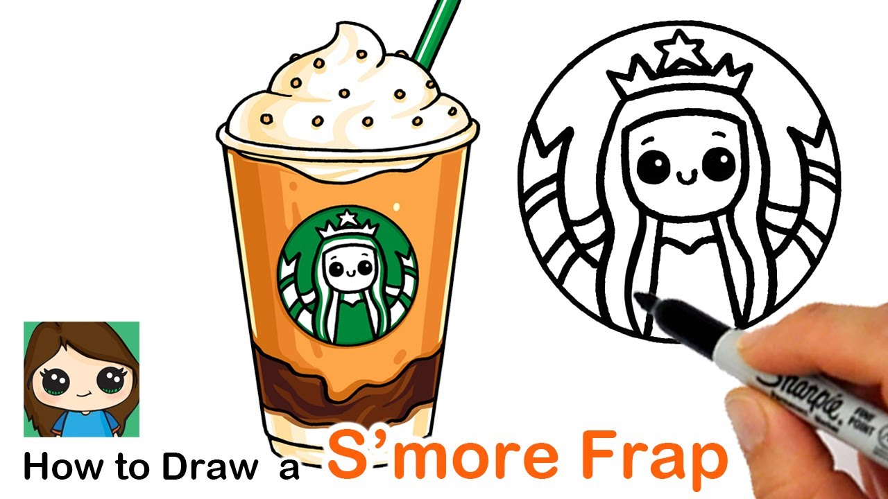 How To Draw A Starbucks S Mores Frappuccino Summer Art Series 8 Youtube