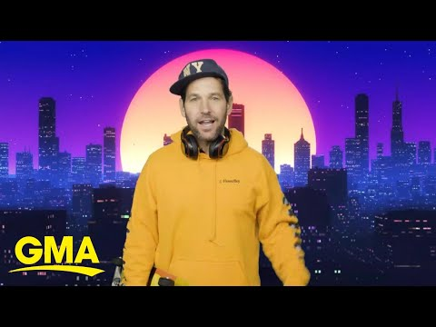 'Certified young person' Paul Rudd's hilarious mask message to millennials l GMA