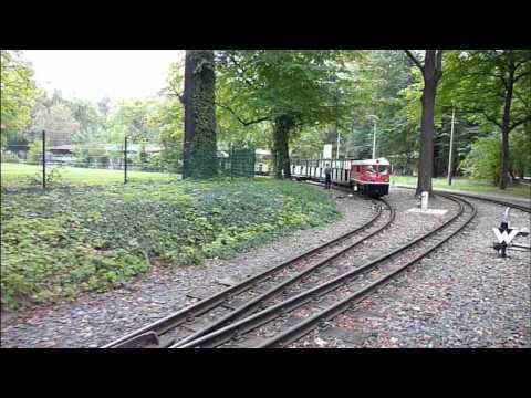 [HD] Miniature park railroad at Central Park of Dresden / Pioniereisenbahn im Großen Garten Dresden