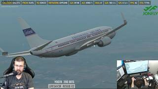 X-Plane 11 - Zibo 737 3.23T with RG Mod Part 4 of 4