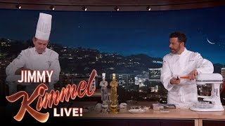 Chef Thomas Keller & Jimmy Kimmel Make Award Winning Dish