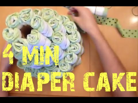 Diaper Cake In Under 4 Minutes Youtube