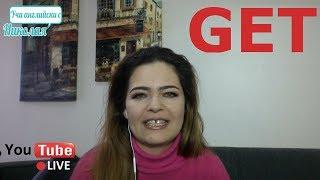 """LIVE - Глагола """"Get"""" - Поточно предаване на живо от Учи английски с Николая"""