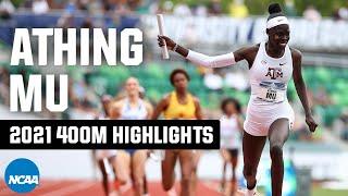 Athing Mu 400m college highlights