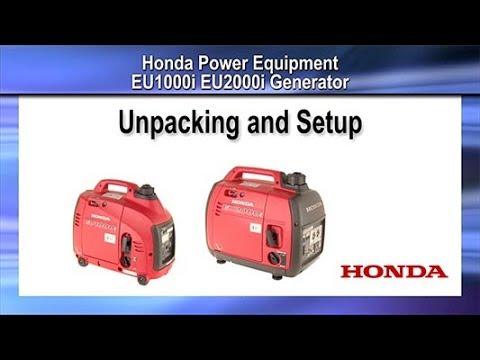 EU1000i and EU2000i Generator Unpacking and Setup
