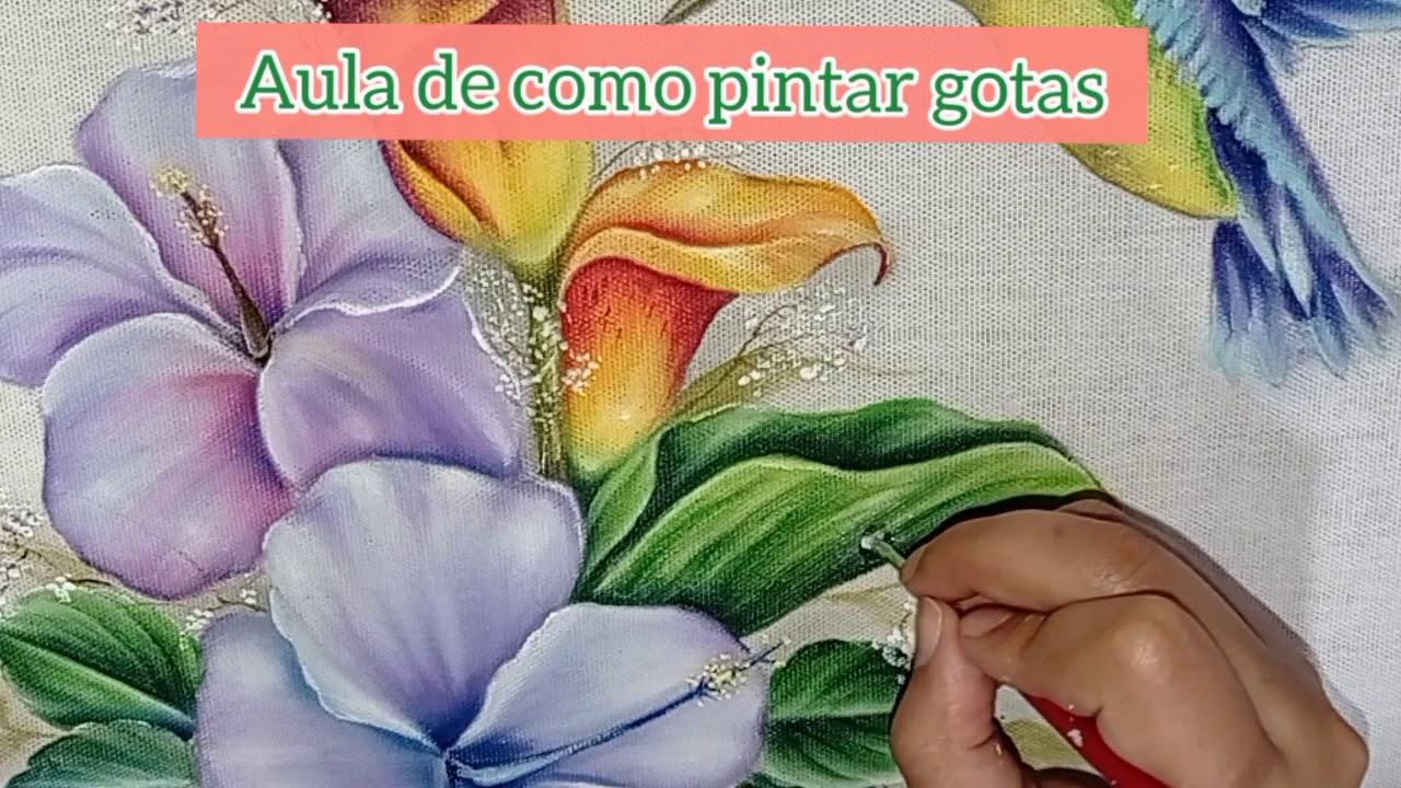 Aprenda como pintar gotas#pinturaemtecido