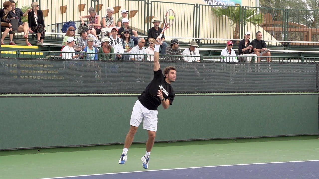 Stanislas Wawrinka Serve In Super Slow Motion Indian Wells 2013 Bnp Paribas Open Youtube