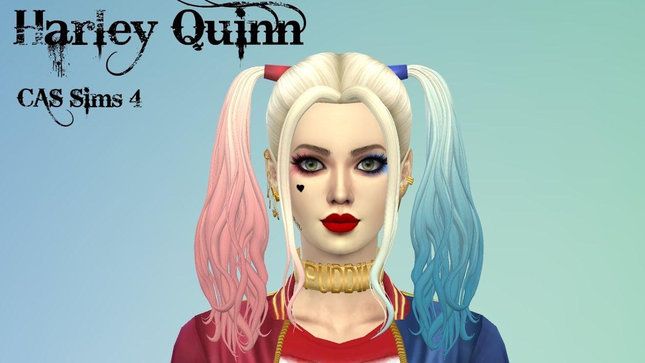 CAS sims 4 Harley Quinn   CC list // Create a Sim/Harley Quinn