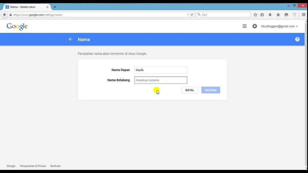 Lihat Cara Mengubah Nama Di Akun Google Terbaru