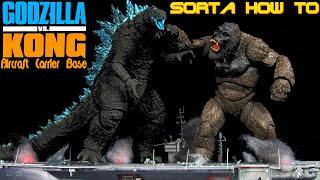 Custom Godzilla VS Kong Aircraft Carrier Light Up Base/Display - SH MonsterArts GvK - Sorta How To