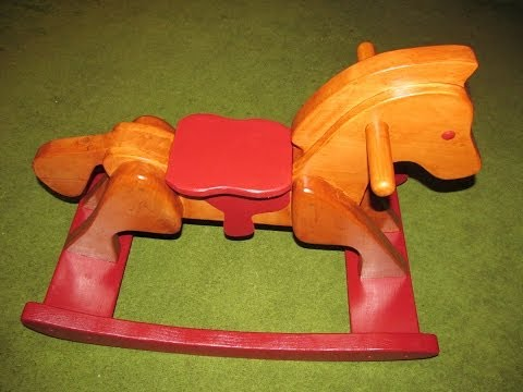 Homemade wooden rocking horse