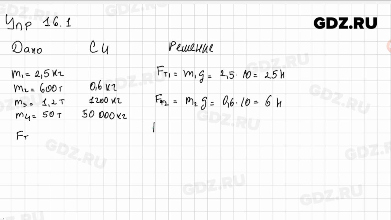 Гдз Физика 9 Класс Пёрышкин Упр 16