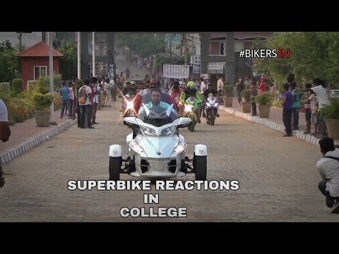 SUPERBIKE REACTIONS IN COLLEGE - INDIA
