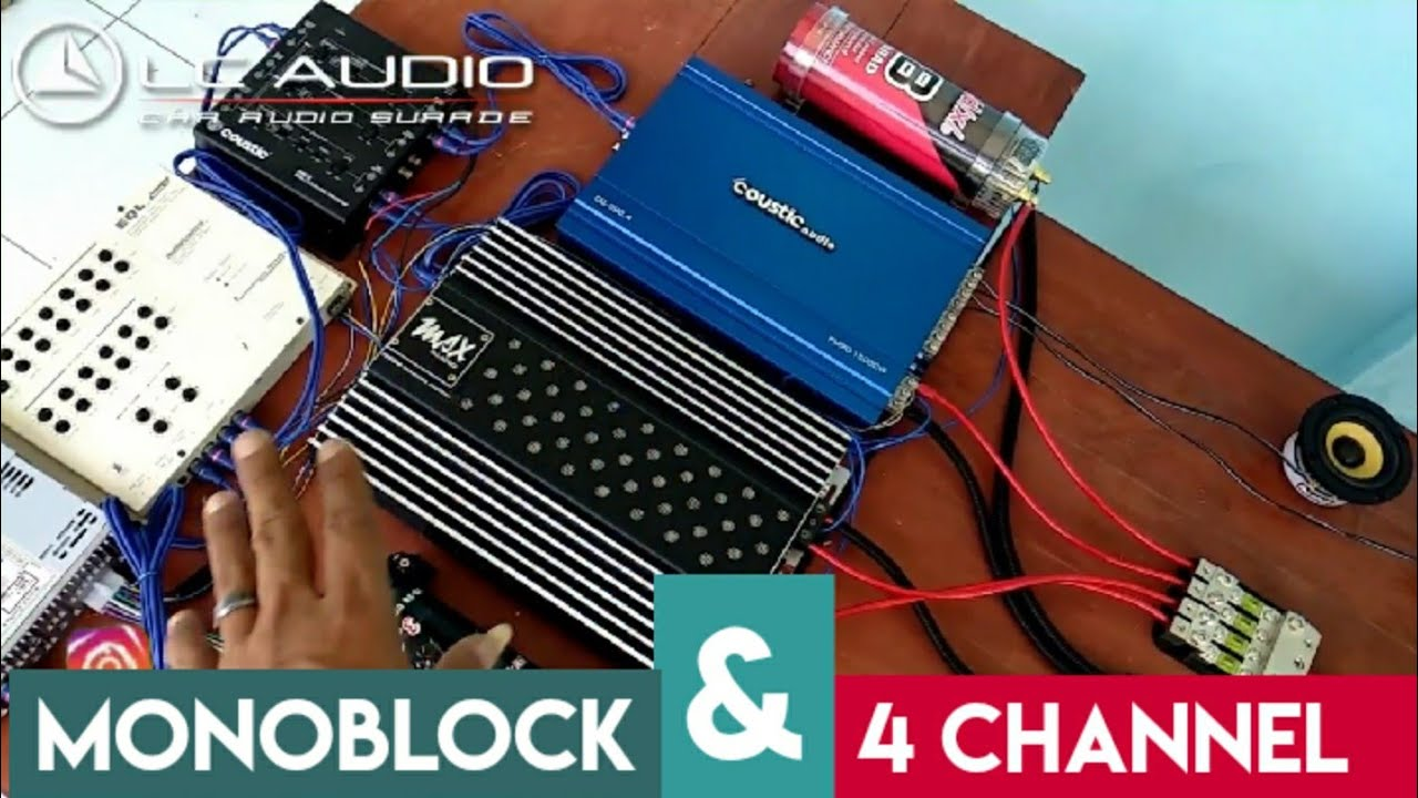 Cara Pasang 2 Power Audio Mobil Monoblock Dan Power 4channel Youtube