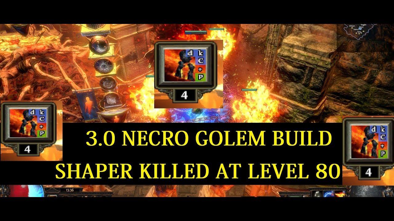 Path of Exile 3 0 | Golem Build | Shaper kill at LVL80