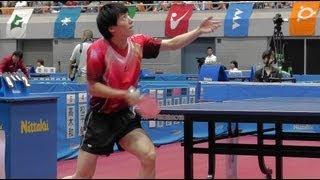 TableTennis 松平健太(東京)vs 軽部隆介(宮城) 1G 卓球 準決勝 成年男子 東京国体 2013.10.3
