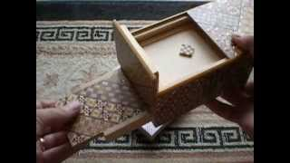 A Closer Look At The 5 Sun 10 Step Nested Yosegi Japanese Puzzle Box With Secret Drawer!