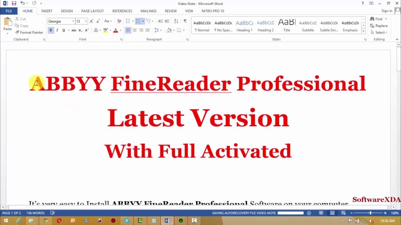 abbyy finereader 14 crack free full keygen