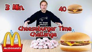 Mc Donald's 40 Cheeseburger's challenge - Jedzenie na czas (MrKryha & Patryk) #CHALLENGE 2
