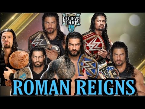 All Championship Wins of Roman Reigns | GrandSlam Champion| Tribal Chief