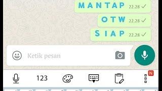 membuat teks whatsapp berwarna BIRU (make blue text whatsapp)