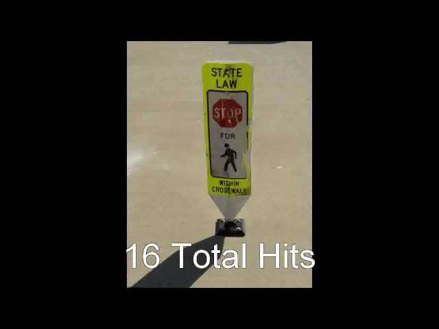 IRS In-Street Pedestrian Sign Crash Testing