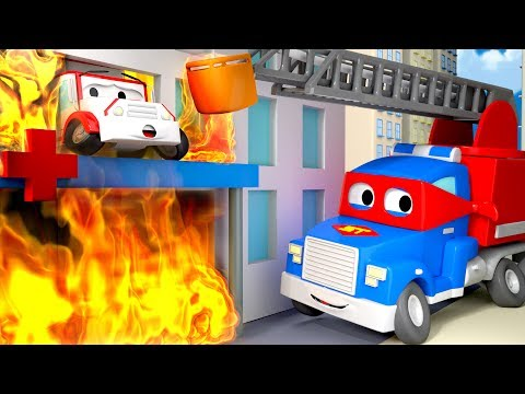 The Hospital is on fire !  - Carl the Super Truck in Car Cit