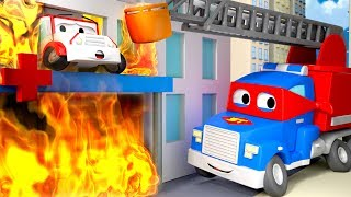 The Hospital is on fire !  - Carl the Super Truck in Car City | Children Cartoons
