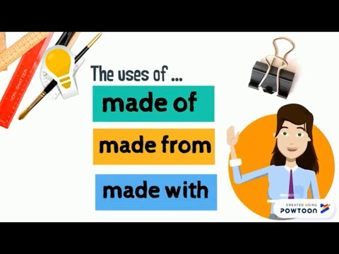 made of, made from, made with ︳English for Kids ︳Grammar for Kids