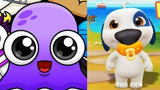 Video Moy 5 Virtual Pet VS My Talking HANK gameplay 🐶 Game cartoon for kids - new episode download MP3, 3GP, MP4, WEBM, AVI, FLV Desember 2017