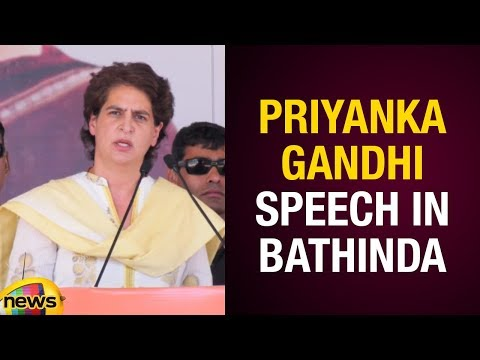Priyanka Gandhi Superb Speech At Public Meeting in Bathinda | Congress Election Campaign2019