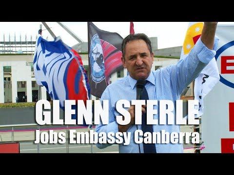 Senator Glenn Sterle - Jobs Embassy Canberra #ausunions