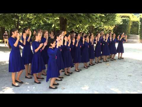 Salzburg - asian girls group singing
