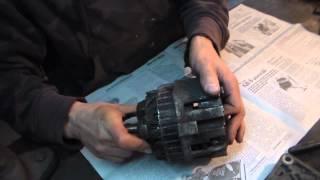 Замена подшипников генератор Ланос № 33(Снимаю генератор и произвожу замену подшипников генератора., 2014-05-02T21:19:51.000Z)