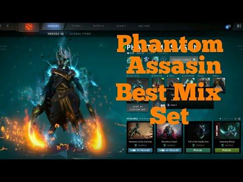 DOTA2PHANTOM ASSASIN BEST MIX SETWITH ARCANA YouTube