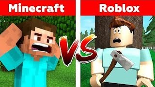 MINECRAFT VS ROBLOX! WHO WILL WIN? Animated Minecraft or Roblox