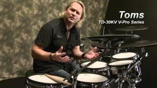 TD-30KV V-Drums साउंड डेमो, डिर्क ब्रांड द्वारा प्रदर्शन किया गया