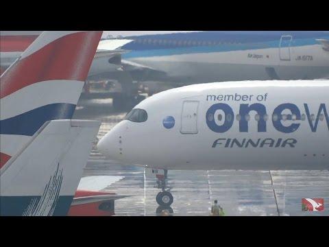 (LAST CATHAY PACIFIC B747 PASSENGER JET LANDED) Hong Kong Chek Lap Kok Airport plane spotting