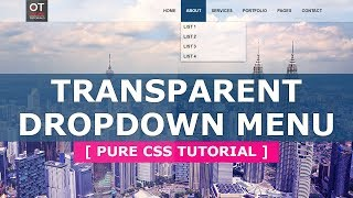 How to Create a CSS3 Dropdown Menu - Pure CSS3 Hoverable Dropdown Menu - Tutorial
